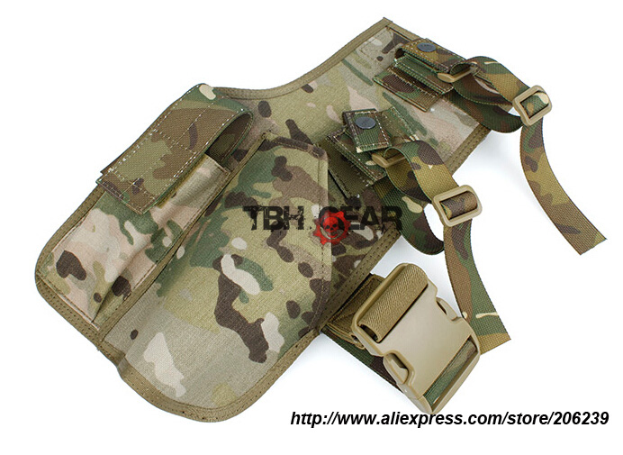 TMC MP7 Fabric Holster Multicam Drop Leg Tactical MP7 Holster+Free shipping(SKU12050750) art holster w15090953672
