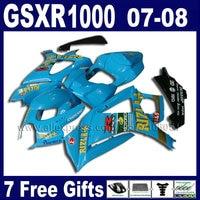 Высокое качество мотоциклов Обтекатели набор для Suzuki 2007 2008 GSXR1000 части GSXR 1000 GSXR K7 K8 07 08 1000 синий rizla обтекателя Ki