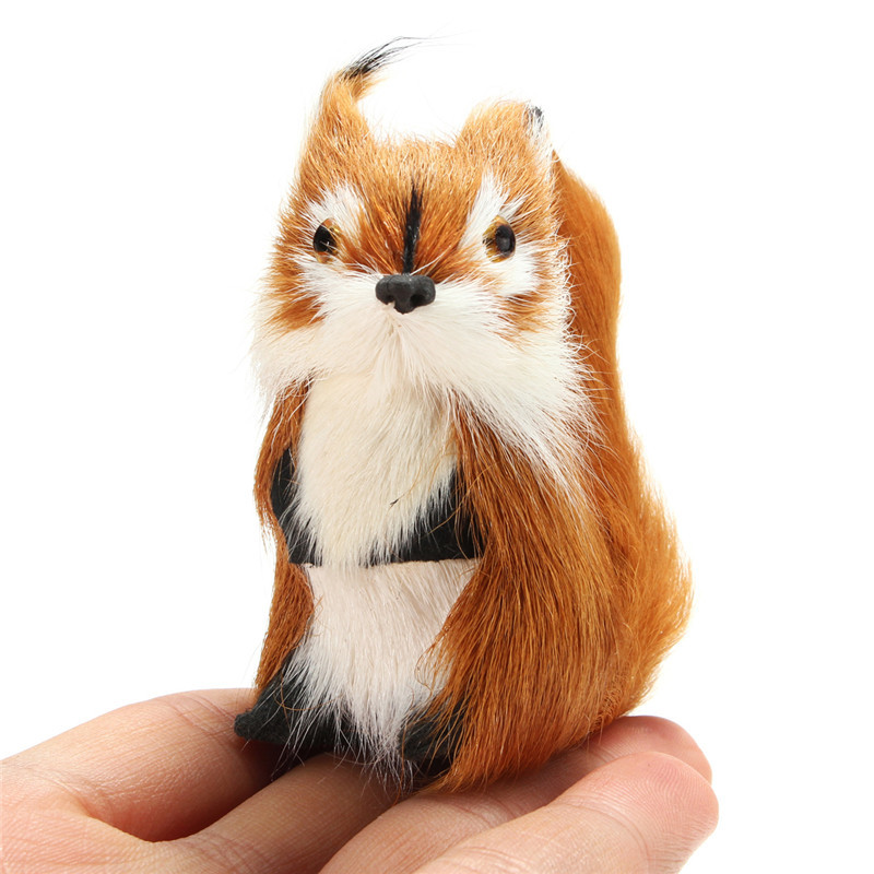 Furry Squirrel Ornament Decoration Adornment Christmas Gift Hanging Tree Fleece Home Decor Miniatures Great Children Gift