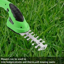 2 in 1 Multi-Function Grass Shear Cordless Lithium-ion Rechargeable Shrub Shear Grass Trimmer Shears For Lawn Mower Garden Tools(China)