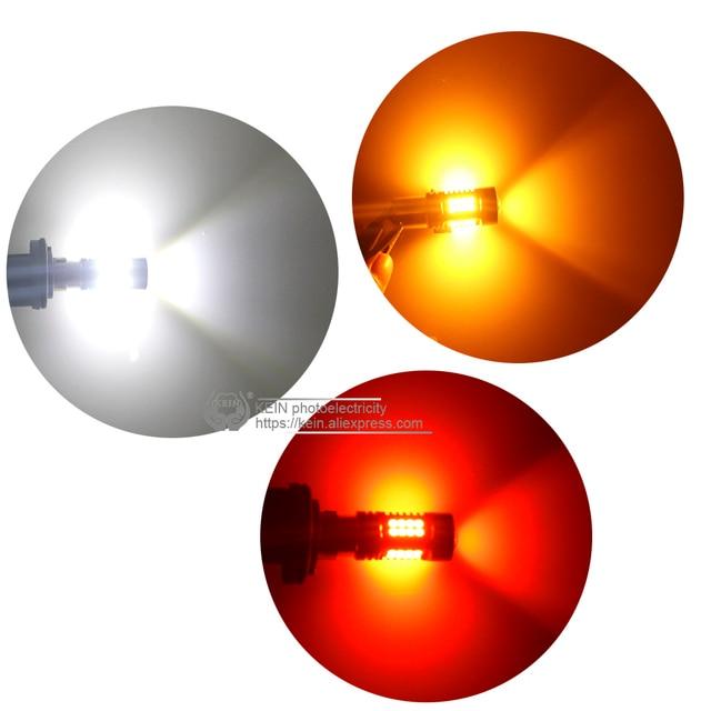KEIN 2PCS P21W led 1156 BAU15S PY21W BA15S Car Lights LED BAY15D 1157 P21/5W 3030 R5W 12V 24V DRL red amber Auto car Lamp Bulb
