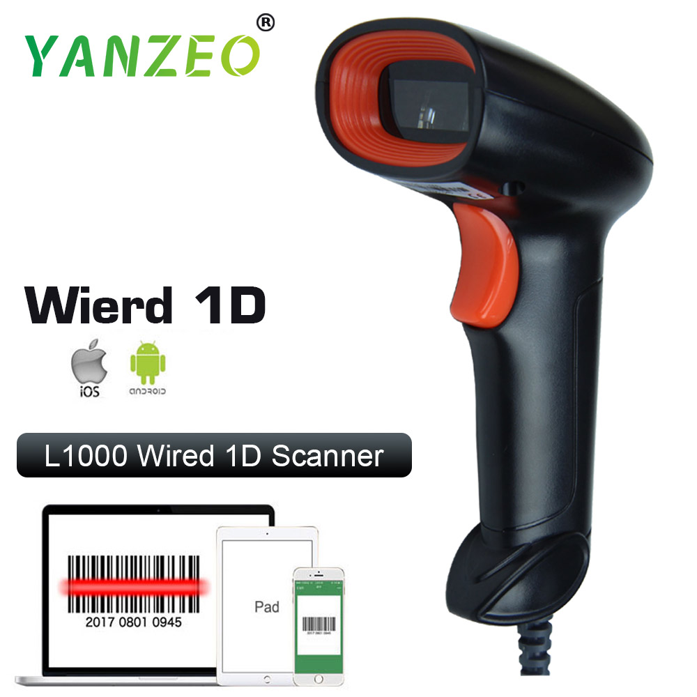 Yanzeo L1000 C2000 Wirelress Bluetooth Barcode Scanner Handheld 1D/2D PDF417 QR Bar CODE Reader para Android IOS IPAD
