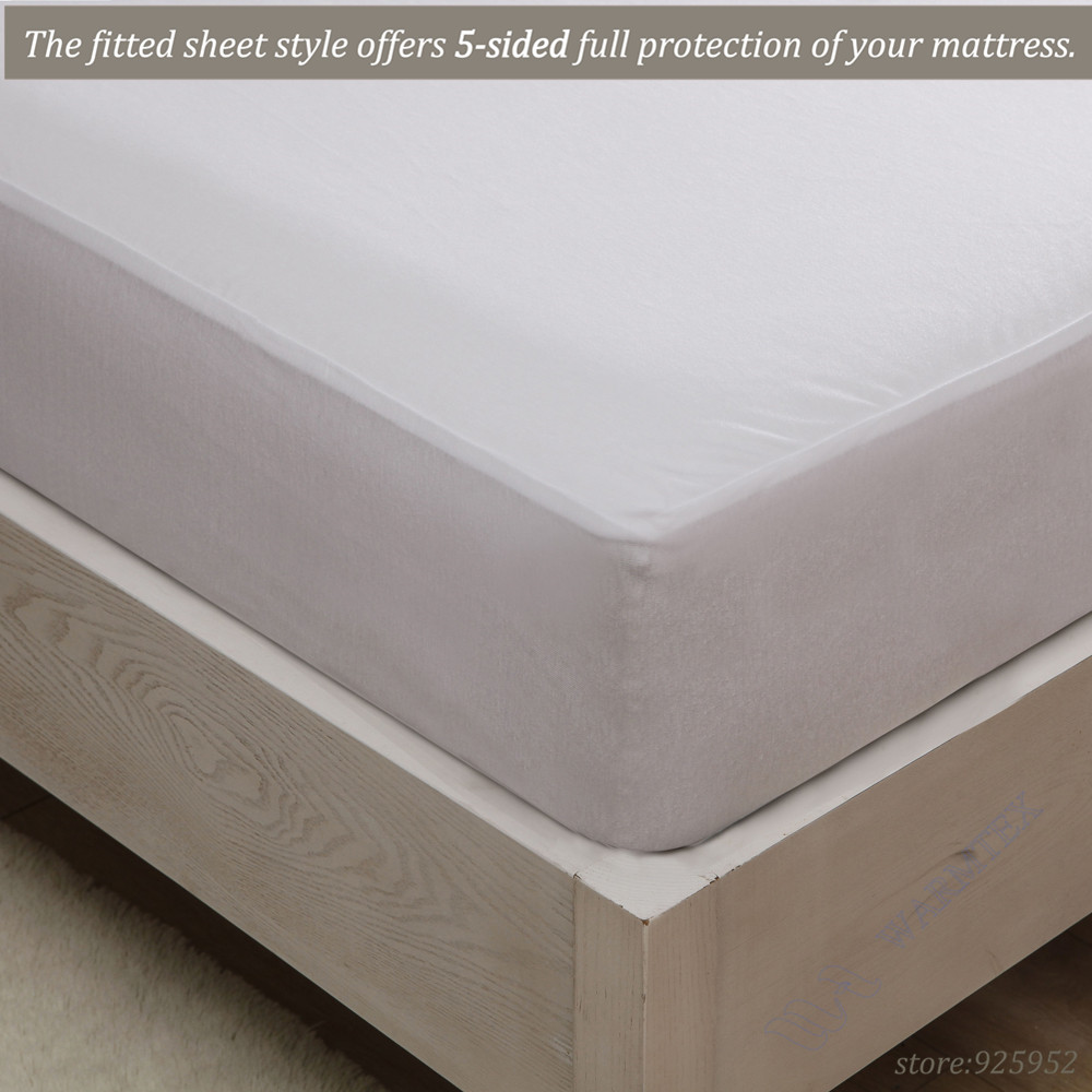 160x200 1.6m bed waterproof Smooth Knit mattress protector Mattress Cover 100% Waterproof of TPU W002 A