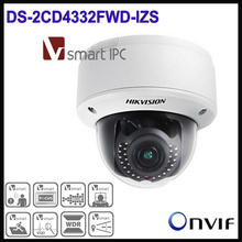 Hikvision CCTV IP Camera 3MP WDR Outdoor Dome Camera DS-2CD4332FWD-IZS 2.8-12mm Varifocal Lens Waterproof Cameras 1080P