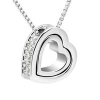 Österreich Klarem Kristall Herz Halskette Valentinstag Liebe Sie Schmuck Freundin Mutter Tochter Halsketten Herz In Herz Anhänger