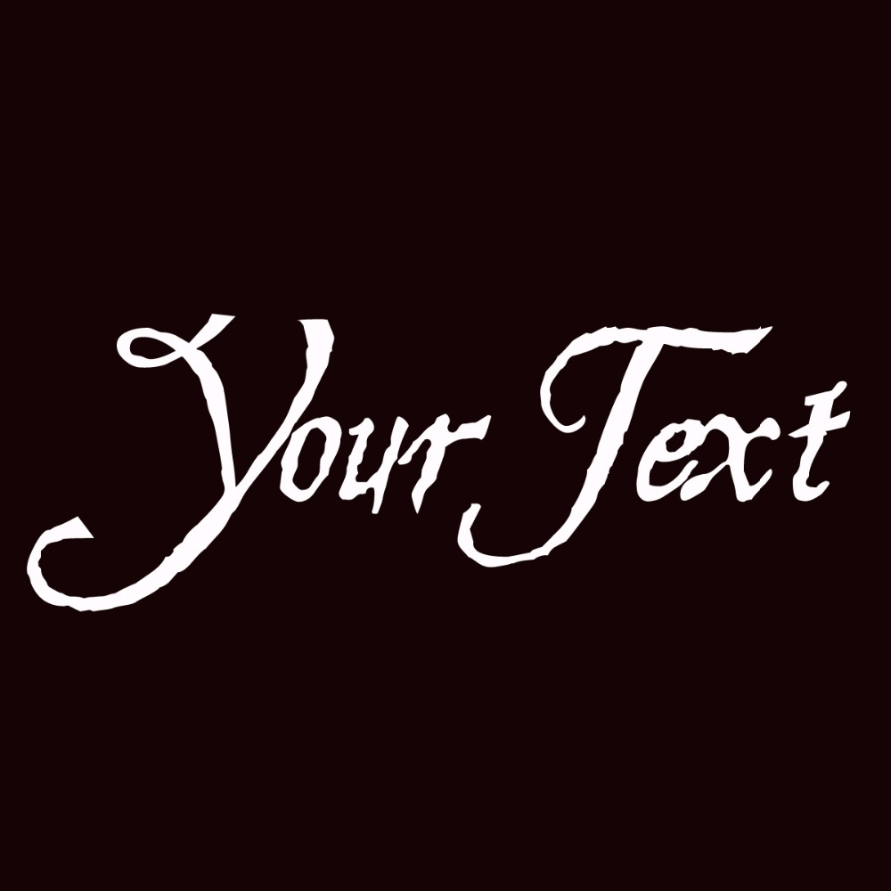 hesperides your text vinyl decal sticker car window bumper custom 7 personalized lettering in. Black Bedroom Furniture Sets. Home Design Ideas