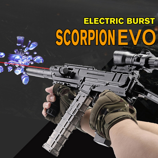 Plastic Toy Gun Guns Paintball Orbeez Bullets Weapon Outdoor Water Gel Gun Toy Scorpion EVO Electric Blaster Boys Kids Toys Gift