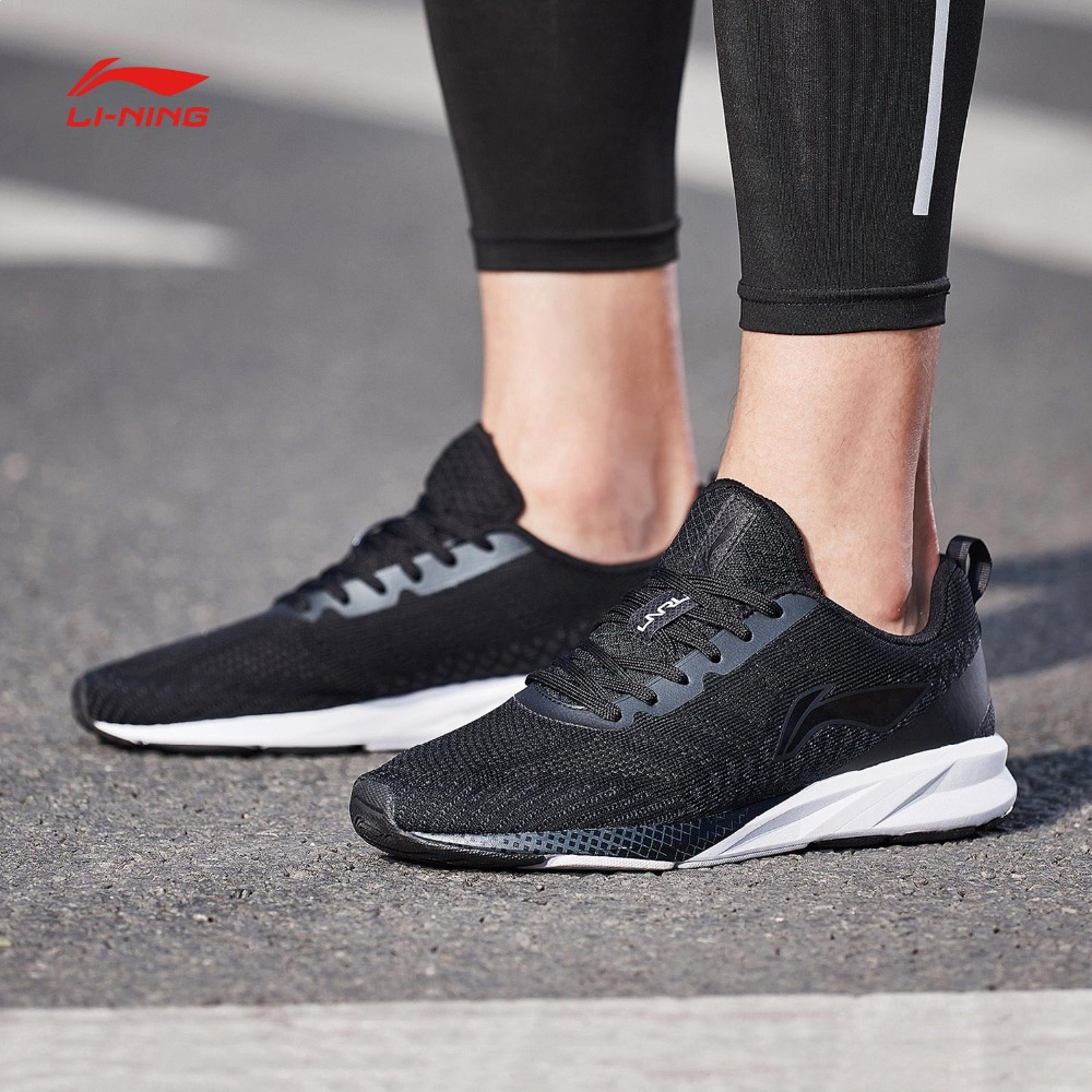 Li Ning Men COLOR ZONE Cushion Running Shoes Breathable Mono Yarn LiNing Light Weight Sports Shoes