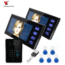 freeship by DHL Video Door Phone Intercom Touch Button Doorbell 7″Color LCD Monitor Waterproof Outrdoor video intercom