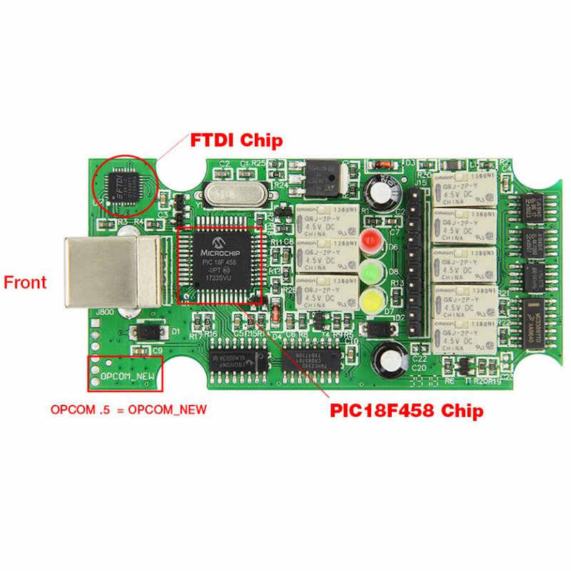 OP-COM V1 99 Firmware Can Be Flash Update With PIC18F458 + FTDI Chip OBD  OBD2 Diagnostic Tool For Opel Op Com OPCOM 1 99