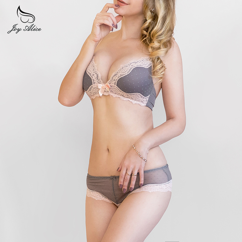 VS Brand Wire Free Women's Underwear set panties  Lace Bra Set Intimate women Push Up brassiere women Cup lingerie Briefs Set