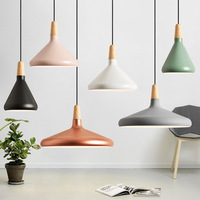 Modern Led Pendant Lamp Aluminum Lampshade Nordic Round Hanging Light Fixuture Suspension Lights Dining Room Cafe Restaurant Bar