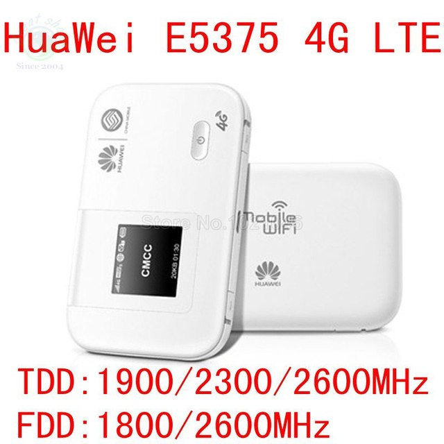 Unlocked Huawei E5375 150Mbps 4g Wifi Router 4g lte pocket mifi dongle 4g modem TDD 1900/2300/2600 pk e5372 e5776 e3276 e589