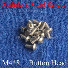 15pcs M4 Metric Thread 304 stainless steel Hexagon Socket Button Head Cap Screw Bolts Round Head M4*8mm screw nut 2pcs m4 200mm m4 200mm thread length 16mm 304 stainless steel dual head screw rod double end screw hanger blot stud
