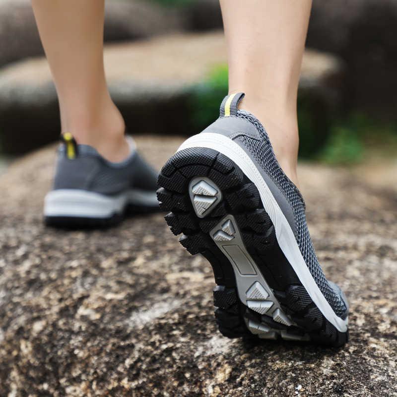 2018 Người Đàn Ông Giày Chạy Sốc Hấp Thụ Lưới Thoáng Khí Thể Thao Sneaker Ánh Sáng Ngoài Trời Đi Bộ Chạy Bộ Giày Giày Thể Thao 47 48