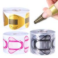300/500 stücke Nagel Formen Erweiterung Leitfaden Tipps Für Acryl UV Gel Nail art Builder Form Französisch Kurve Schablonen Maniküre Werkzeuge TR941-2