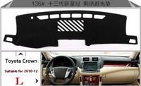 Car Dashboard Avoid Light Pad Instrument Platform Desk Cover Mats Carpets Auto Accessories For Toyota Crown