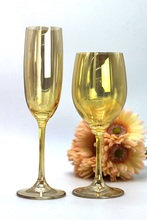 High grade sample room, amber, electro-optic water domestic crystal glass high foot grape red wine Champagne Cup