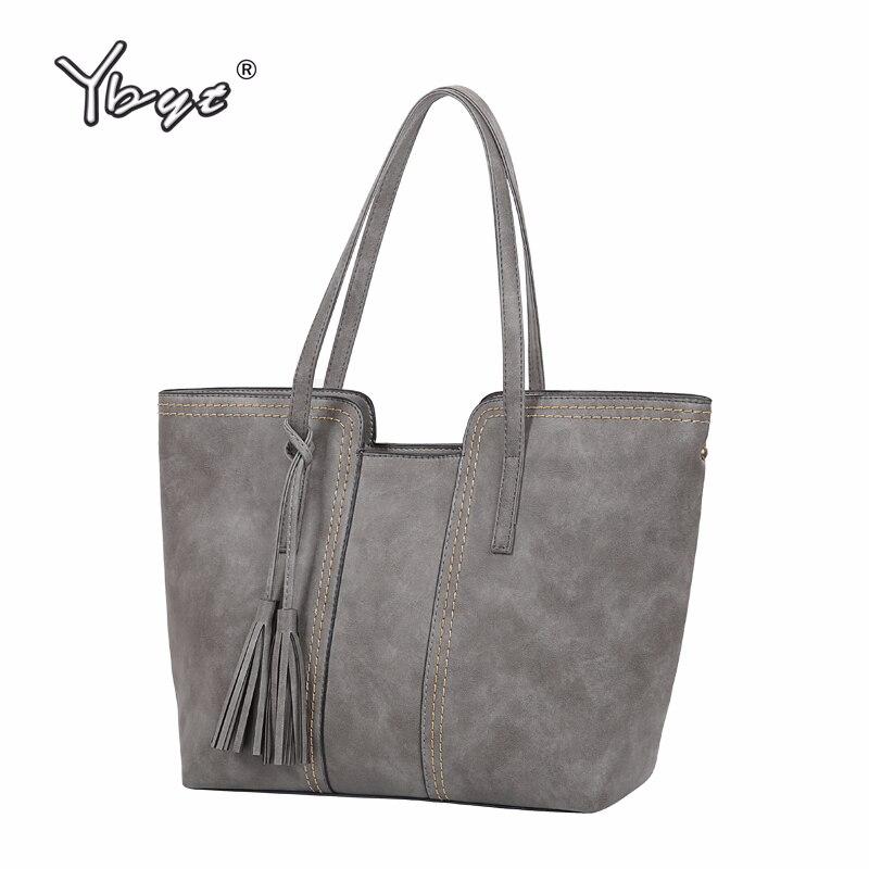YBYT merk 2018 nieuwe vintage casual grote capaciteit vrouwen handtassen hotsale dames boodschappentas schouder messenger crossbody tassen
