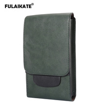 FULAIKATE 6.3 Crazy Horse Men's Universal Bag for Samsung Galaxy Note8 S8 S9 Plus Retro Waist Pouch for MEGA GT-i9200 Case цена