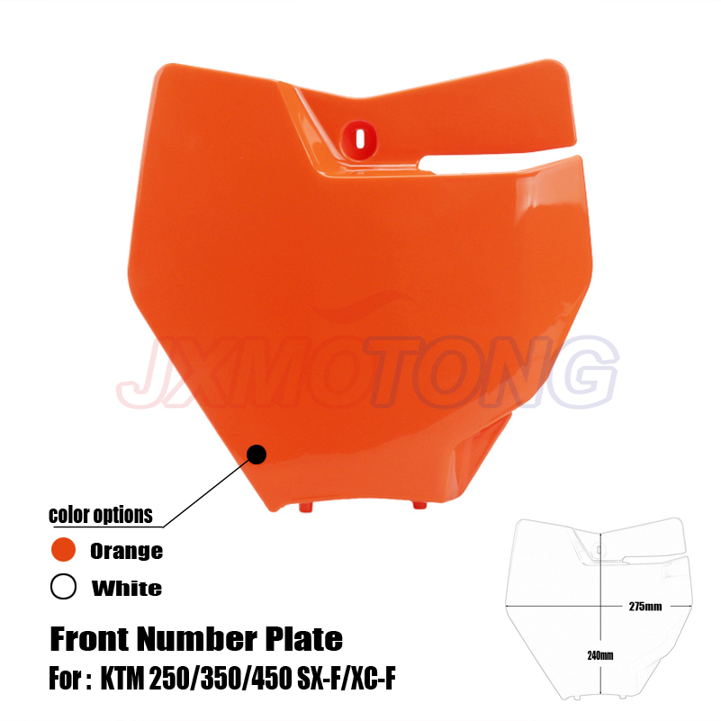 Front Number Plate Name Plate Plastic Cover For KTM 250/350/450 SX-F/XC-F And 125/150 SX 2016-2017 Motocross Enduro