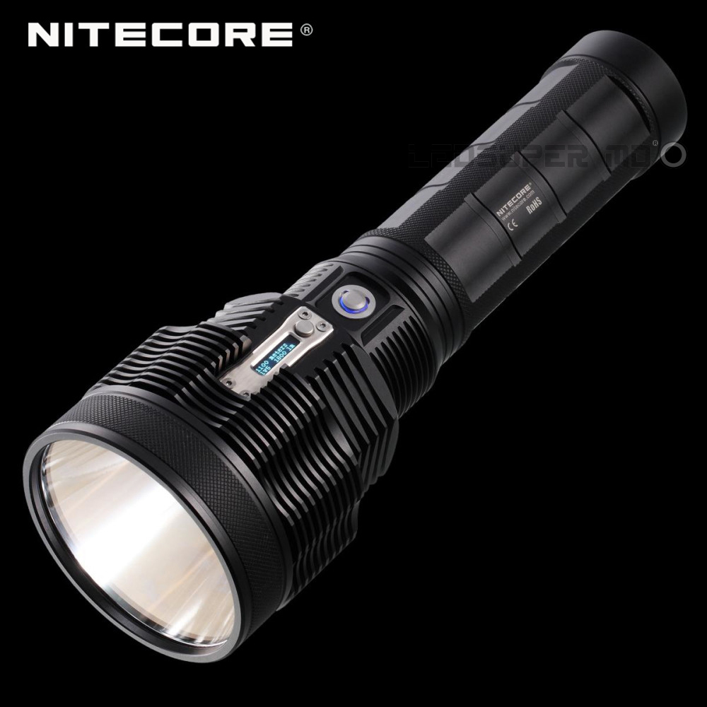 Tiny Monster NITECORE TM36 OLED Display Flashlight 1800 Lumens 1100 m Beam Distance Powerful LED Portable Search Light