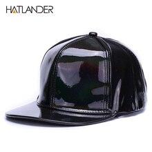 Flat-Brim Snapbacks-Cap Baseball Hats Hip-Hop-Caps PUNK HATLANDER Girls Boys Street-Dancer