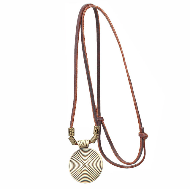 Women Maxi Leather Rope Statement Necklace