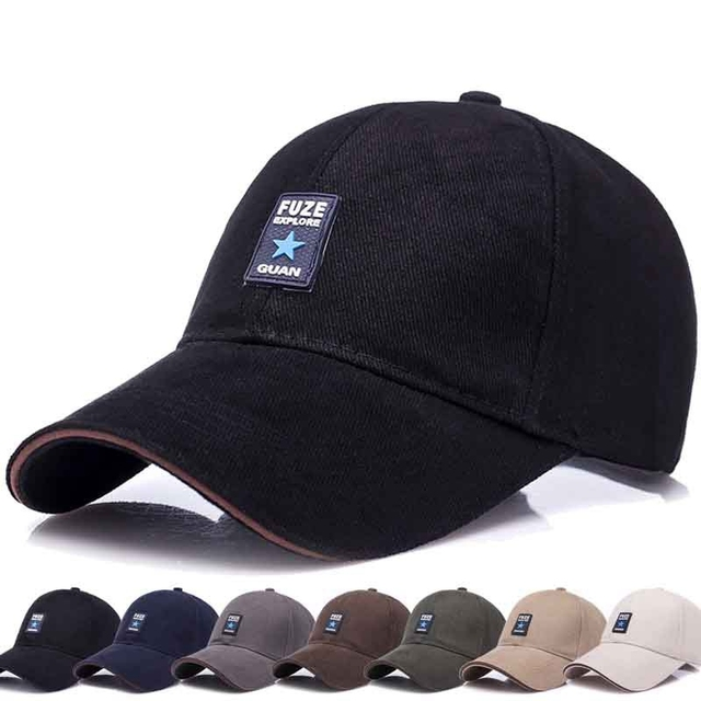High Quality Spring Cotton Gorras Snapback Caps Curved Dad Hat Golf Leisure  Outdoor Women Men Sports Hiking Cap 8 Colors 48d4fdfbba7