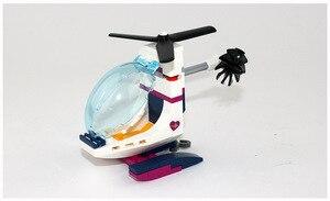 Image 4 - CX 01039 932Pcs 모델 구축 키트 여자 친구와 호환 41318 심장 호수 사랑 병원 3D 벽돌 그림 장난감