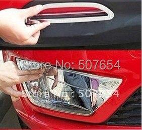 Бесплатная доставка! Высокое качество 2 шт. передних противотуманных фар крышка + 2 шт. задних противотуманных фар крышка ( ABS хром ) для KIA K2 2011