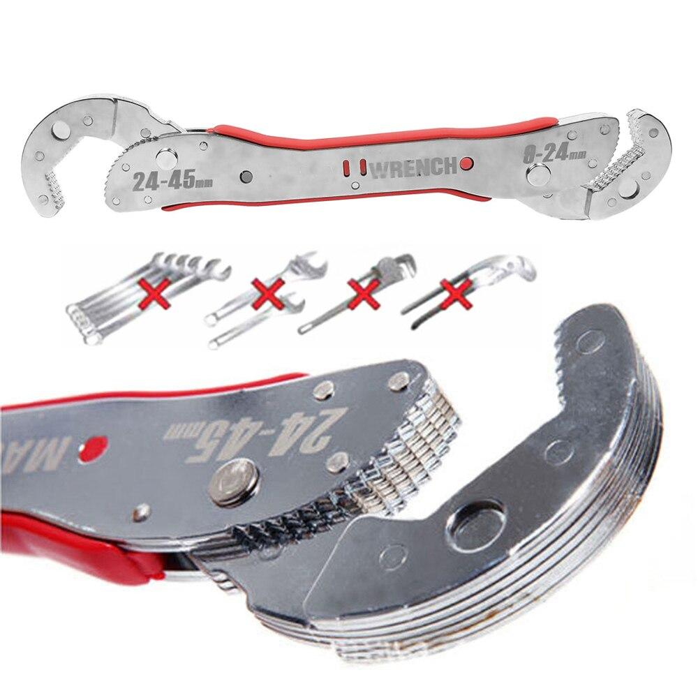 Onnfang Granel Preço magia ajustável chave Multi-função de ferramenta da chave Universal wrench ferramenta de Mão casa 9-45/ 32mm Opcional