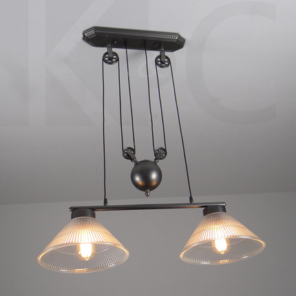 Vintage retro loft iron rise and fall pendant light glass lampshade vintage retro loft iron rise and fall pendant light glass lampshade single head and double heads black iron up and down pendant in pendant lights from aloadofball Choice Image