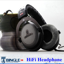 Bingle B-910-M Encima de La Cabeza de Los Auriculares del Estudio de DJ Monitor de Auriculares de Alta Fidelidad Estéreo de Música para Auriculares de 3.5mm + 6.3mm Enchufe