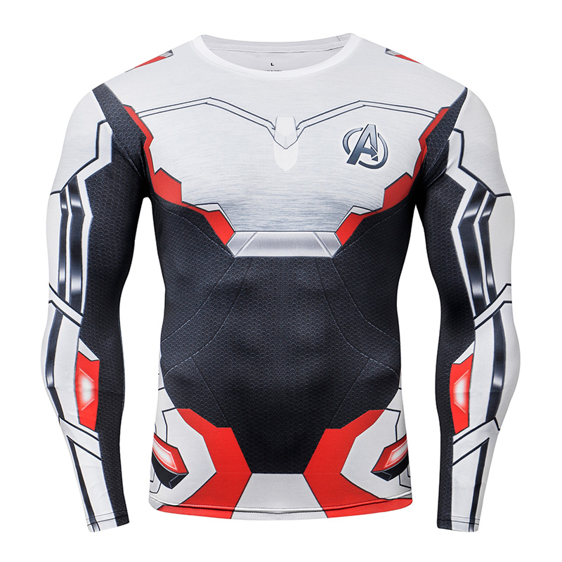 Avengers 4 End Game Quantum War Compression Shirt 3D Printed T Shirts Men Cosplay Costume Long Sleeve For Male Fitness Tops