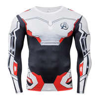 Avengers 4 Ende spiel Quantum Krieg Kompression Shirt 3D Gedruckt T shirts Männer Cosplay Kostüm Lange Hülse Für Männlichen Fitness tops