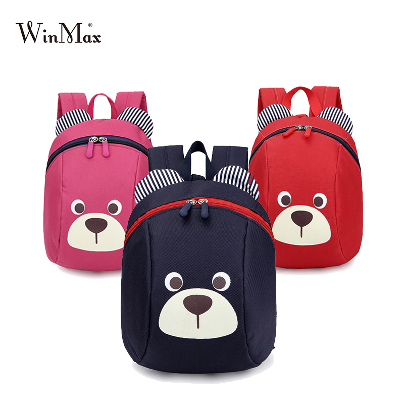 Age 1-3 Toddler Backpack Anti-lost Kids Baby Bag Cute Animal Dog Children Backpack Kindergarten Bear School Bag Mochila Escolar