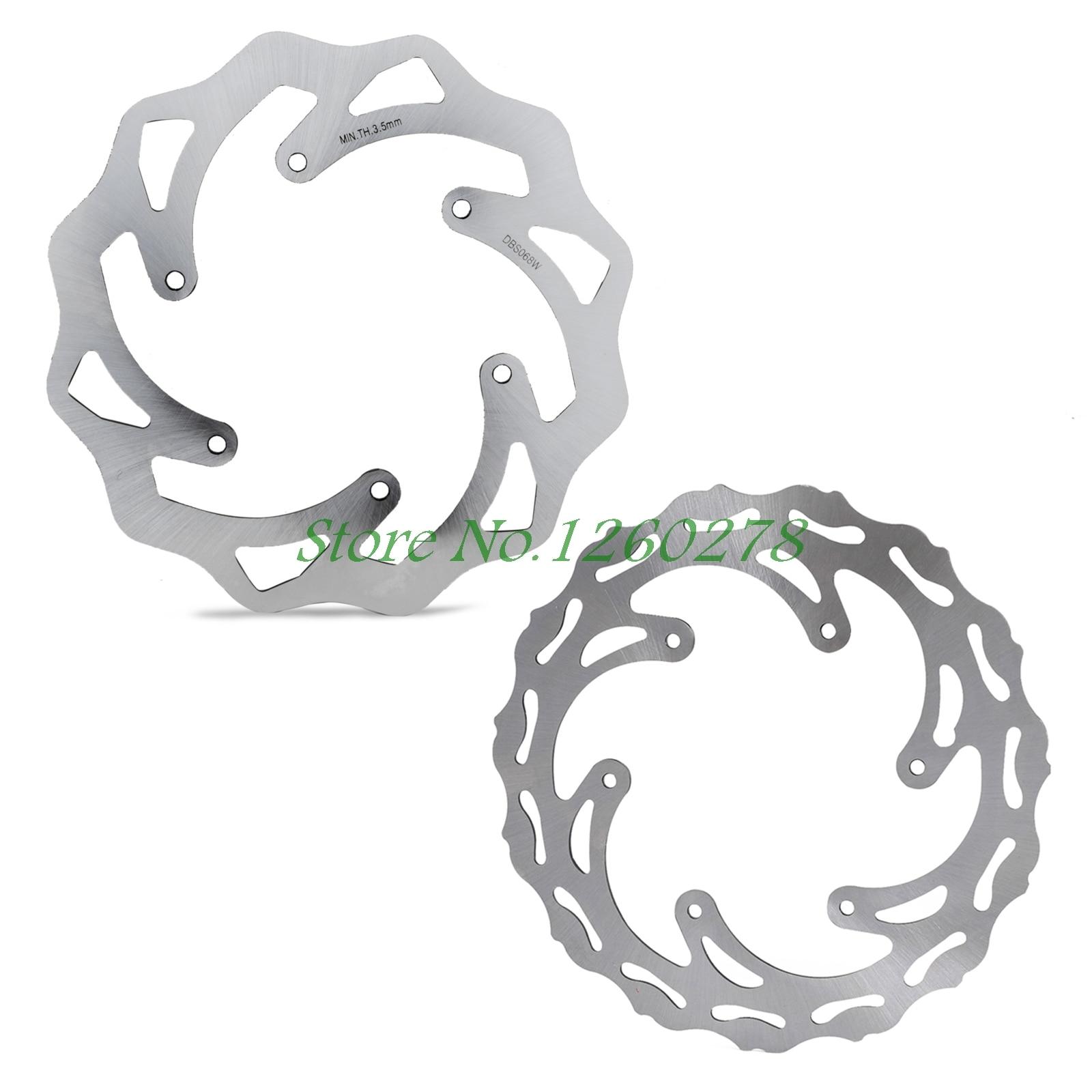 Motorcycle 260/220mm Front Rear Brake Discs Rotors For KTM 125-500 All 1994-2018 Husqvarna 125-501 FE/TE/FC/TC Husaberg 560 570 воздуходув husqvarna 125 b