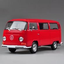 Литья под давлением модели VW T2 1972 VW T2 1:24 сплава модели автомобиля игрушка автомобиль автомобиль модели автомобиля сплава конструкторы подарок игрушечную машинку