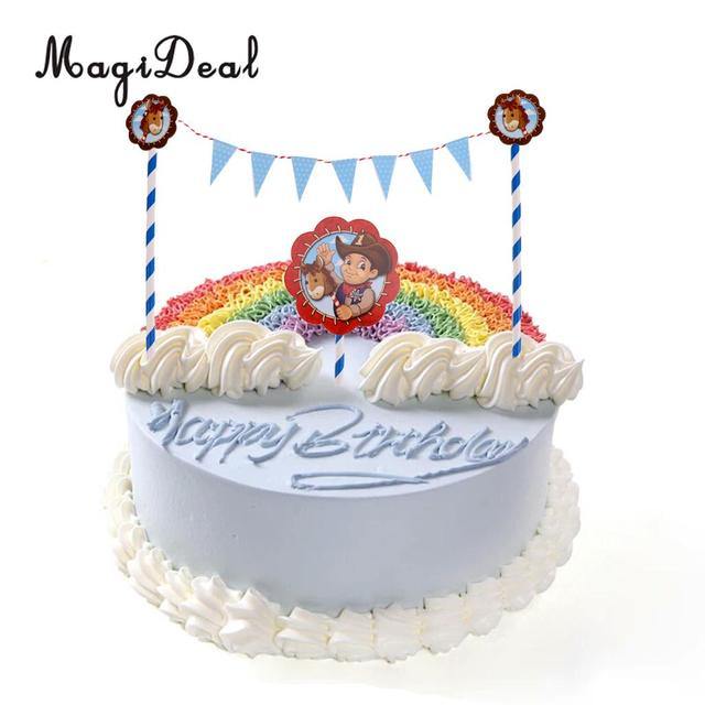 Wedding Cake Topper Cowboy Pony Sticks Baby Shower Kids First