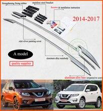 Dachreling dachträger/bar für Nissan x-trail Rogue 2014-2017, beste aluminiumlegierung, drei modelle für ihre wahl, fix durch schrauben oder kleber
