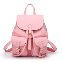 Famous Brand Backpack Women Pu Leather Big Capacity School Bags For Teenage Girls Travel Shoulder Bags