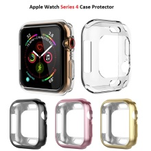 TPU Screen Protector Case For Apple Watch 40mm/44mm Full Frame Cover Protective Soft Rubber Case For iWatch series 4 2pc tpu not glass soft clear full edge cover protective film for iwatch apple watch series 4 40mm 44mm screen protector guard