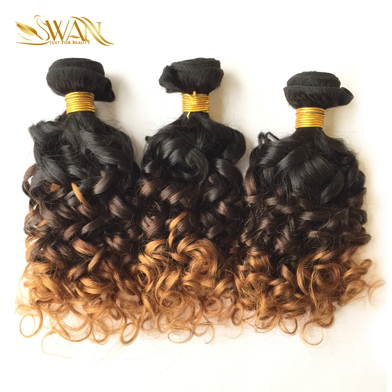 Swan 9a Grade Human Hair Extension 1 Bundle Peruvian Spiral Curly