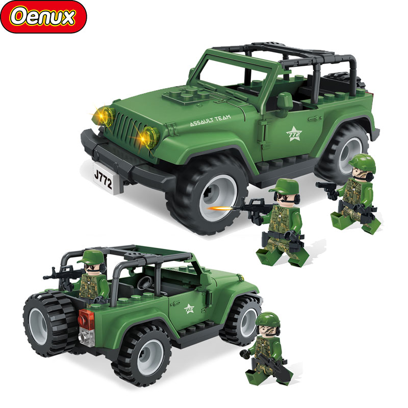 New Classic Military Wrangler Off-Road Jeep Vehicles Model Military Wild Assault Team Soldiers Figures Building Block Brick Toys элтон джон elton john goodbye yellow brick road deluxe edition 2 cd