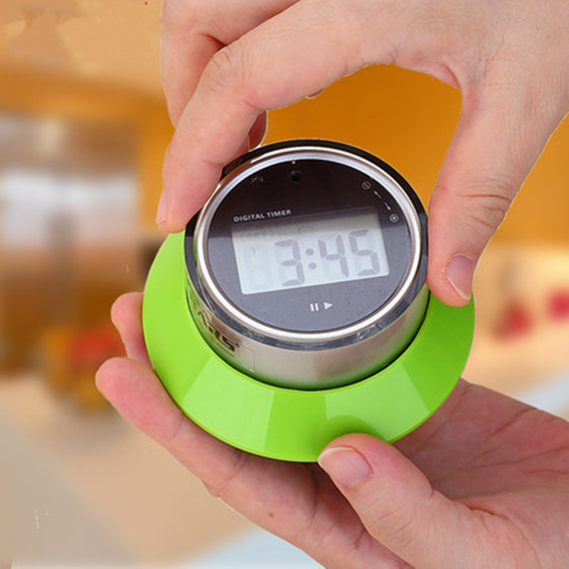 Portable LCD digital timer clock magnet magnetic 15s to 99 minutes countdown alarm clock timer kitchen