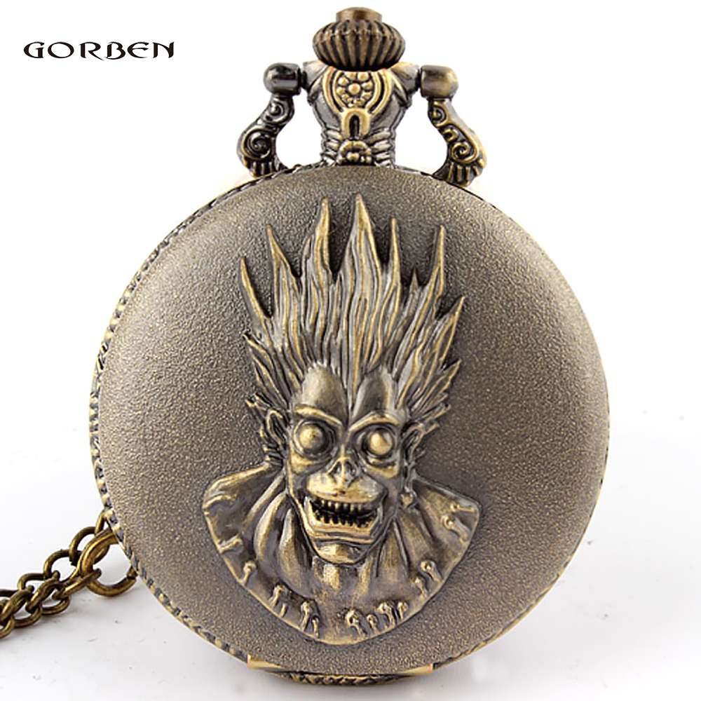 Vintage The Fate Of God Steampunk Quartz Pocket Watch Necklace Men Women Best Gifts With Long Chain Reloj De Bolsillo
