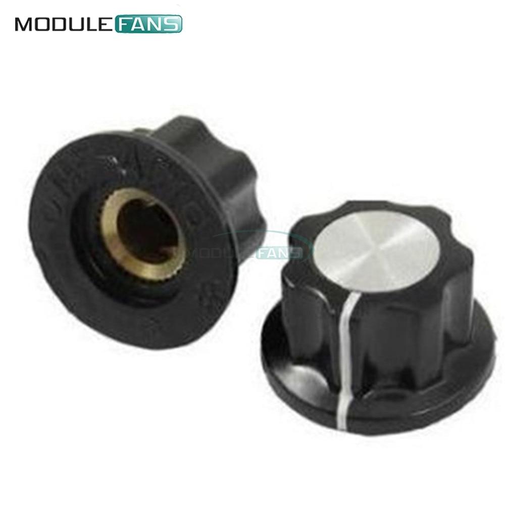 Welle Potentiometer 360 Grad 100% Neue Original Schalterkappen Schnelle Lieferung 10 Pcs 16mm Drehschalter Drehen Knopf Für Loch 6mm Dia