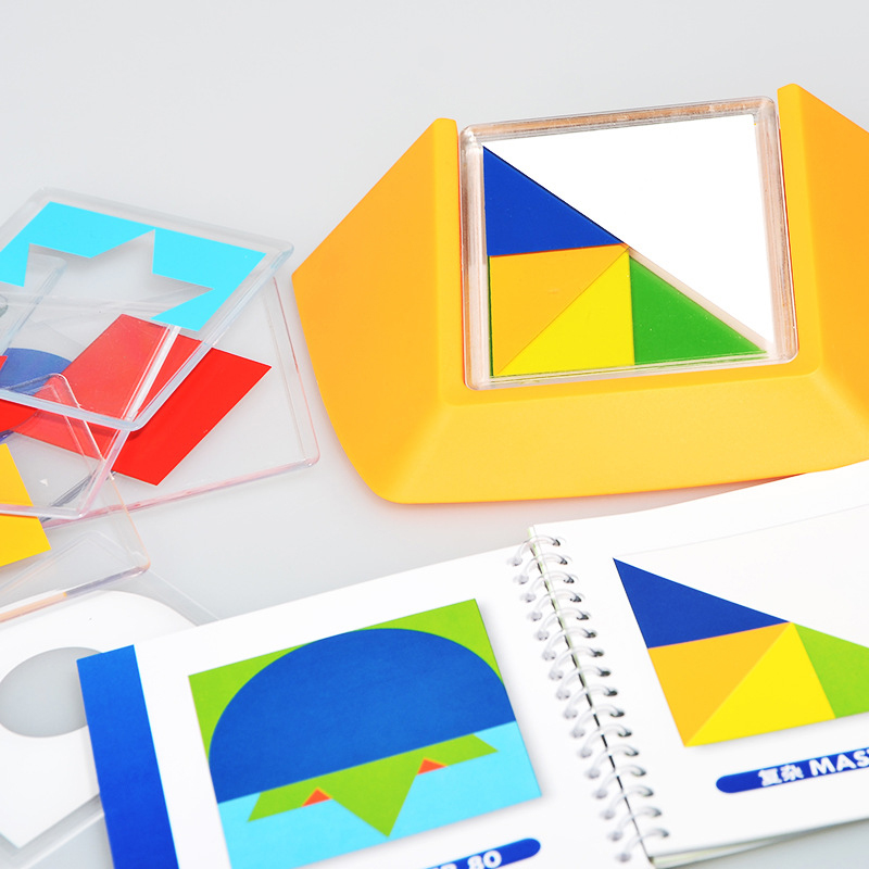 Image 4 - 100 Challenge Color Code Puzzle Games Tangram Jigsaw Board Puzzle Toy Children Kids Develop Logic Spatial Reasoning Skills Toy-in Puzzles from Toys & Hobbies