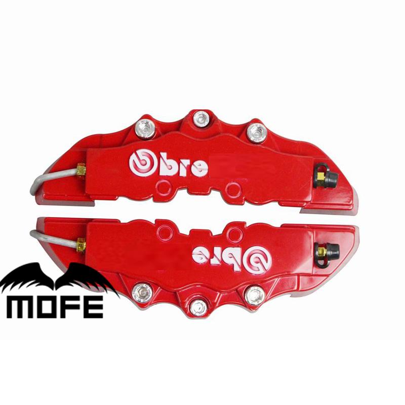 Prix pour Logo Original 4 pcs (M + S) 3D BRE De Voiture Auto ABS en plastique Étrier De Frein Couvre Rouge